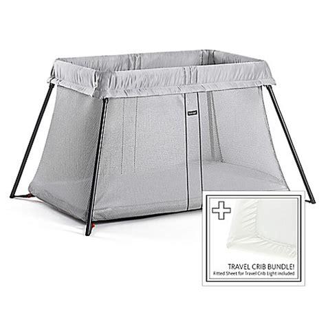 Babybjorn Travel Crib Light Bundle In Silver Buybuy Baby