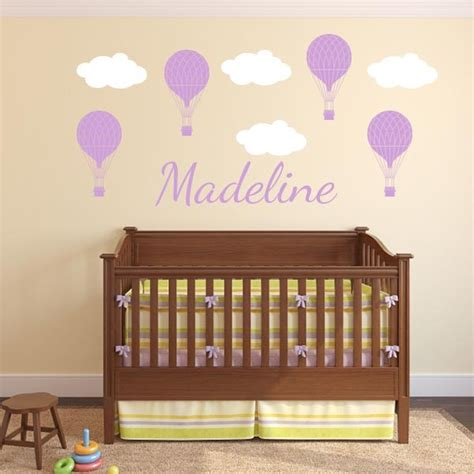 hot air balloon personalized scene wall decal world