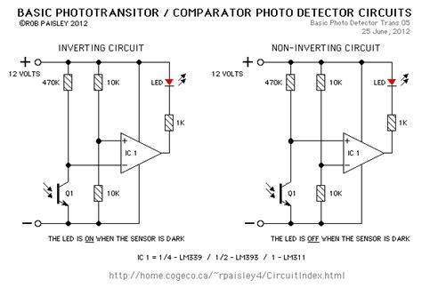 Visible Infrared Light Detectors Circuit Diagram World