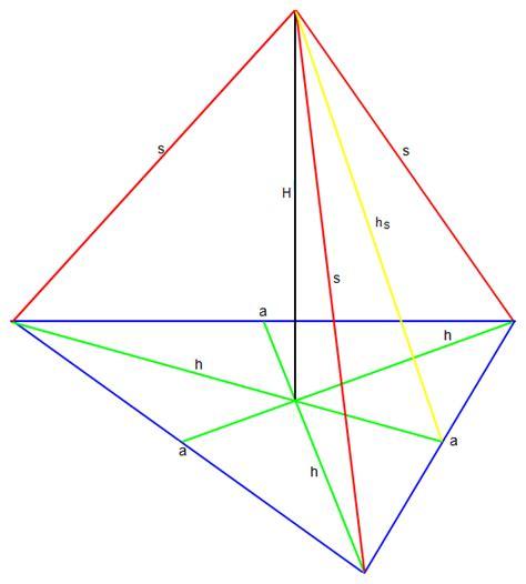 berechnen sie das volumen der pyramide mit  und