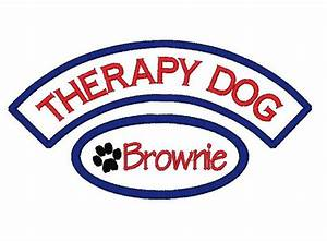 Custom Embroidered Therapy Dog Please Pet Me Iron on Sew on