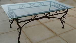 Table Verre Et Fer Forgé : table basse fer forge verre occasion clasf ~ Teatrodelosmanantiales.com Idées de Décoration