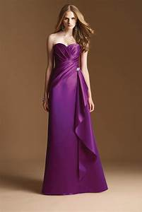 Long satin purple bridesmaid dress fashjourneycom for Purple long dress for wedding
