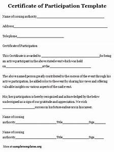 certificate of participation template With small business participation plan template
