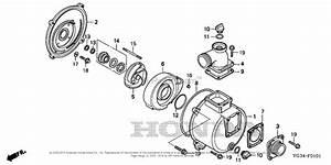 Honda Wb30xt2 A Water Pump  Tha  Vin  Wact