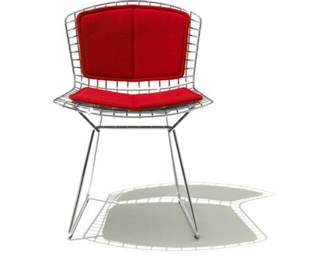 back pads for chairs bertoia side chair with back pad seat cushion