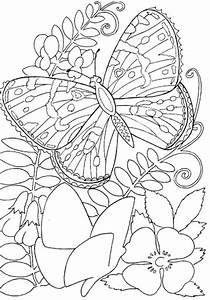 Hard butterflies Coloring Pages for Adults to print ...