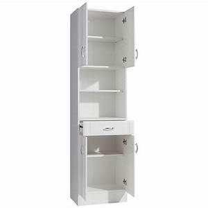 Meuble Colonne Tiroir : meuble colonne de salle de bain poser 4 portes 1 tiroir 2 tag res sidney held m bel 3suisses ~ Teatrodelosmanantiales.com Idées de Décoration