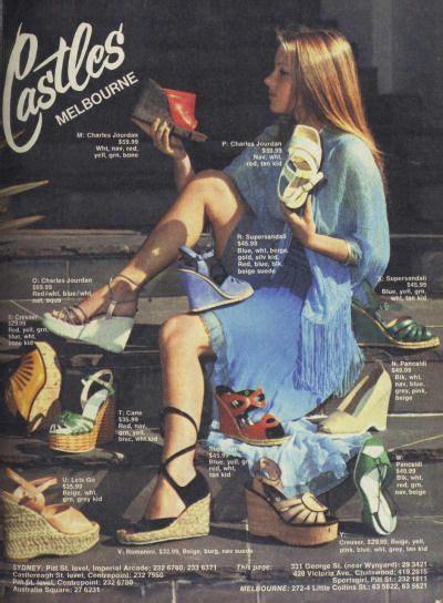 60s 70s espadrilles shoes sandals color photo print ad