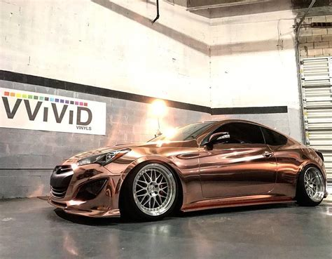 Beautiful #hyundai Genesis Coupe Wrapped In Rose Gold By