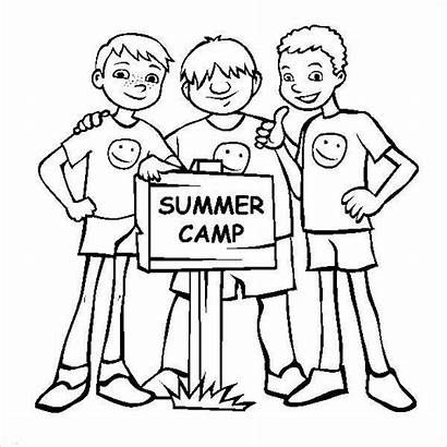 Coloring Summer Camp Pages Template Templates Ice