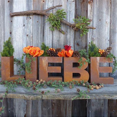 Gartendeko Rost Und Holz by Schriftzug Liebe Aus Edelrost Zum Bepflanzen Rust