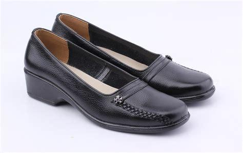 catenzo sepatu pantofel kulit wanita formal shoes