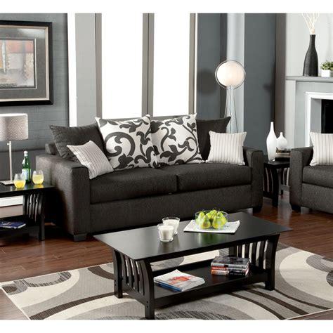 venetian worldwide colebrook charcoal gray sofa  pillows