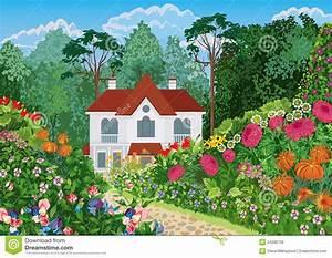 Haus Und Garten Stade : haus im garten vektor abbildung illustration von auslegung 24266729 ~ Orissabook.com Haus und Dekorationen