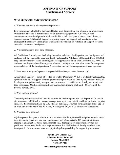 Cover Letter For Affidavit Of Support by Immigration Affidavit Letter Sle Bagnas Affidavit