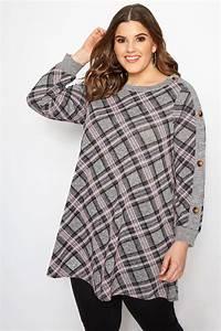 Bon Price Mode : tunique rose grise carreaux grande taille 44 60 ~ Eleganceandgraceweddings.com Haus und Dekorationen