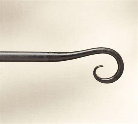 Cast Iron Drape Rod - cast iron scroll finial curtain rod pottery barn