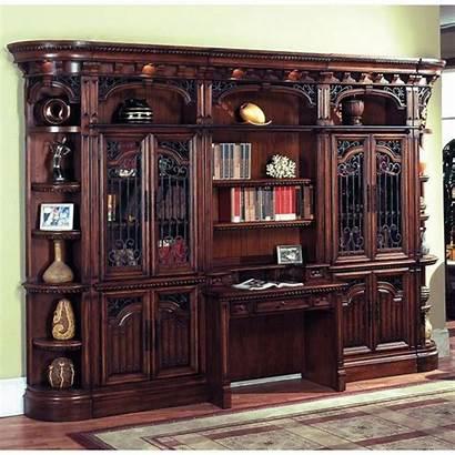 Bookcase Desk Wall Bookcases Furniture Desks Library