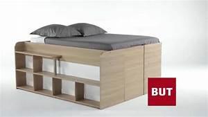 Lit Mi Hauteur Avec Rangement : lit deux places avec rangement ~ Premium-room.com Idées de Décoration