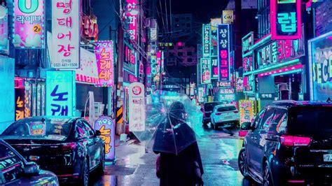 1080p Neon City Wallpaper by Wallpaper 1920x1080 City Umbrella