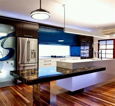 table cuisine contemporaine design 73 idées de cuisine moderne avec îlot bar ou table à manger