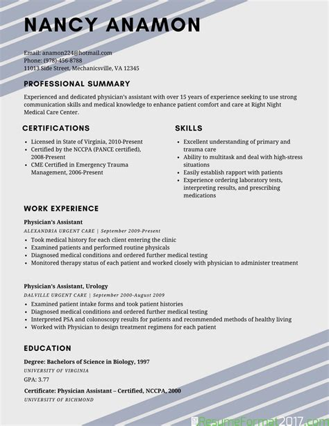 15124 resume formats and exles exle of best resume format 2018 resume format 2017