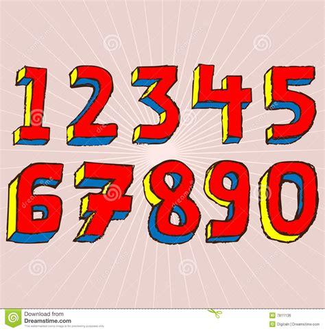 number fonts images cool number fonts