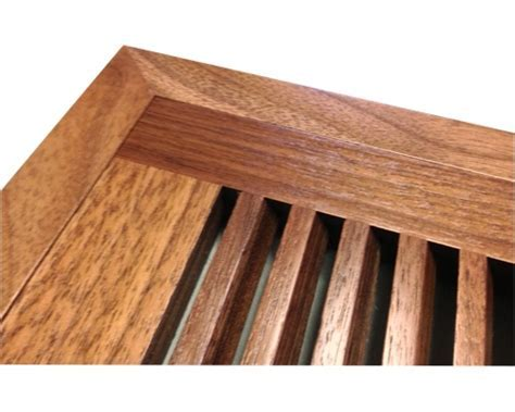 Walnut Floor Vents, Registers, Flush Mount Wood Floor Vent.