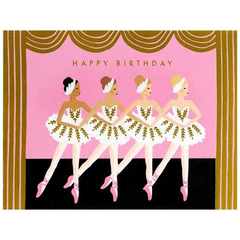 rifle paper  ballet birthday card greer chicago