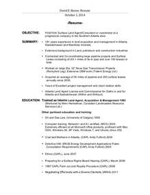 resume objective and gas david boone landman resume revised