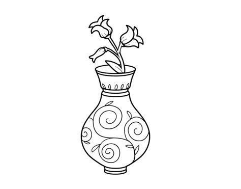 dibujo de flor de canilla en un jarr 243 n para colorear dibujos net