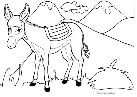 il disegno per i bambini disegni per bambini da colorare l asinello e le montagne
