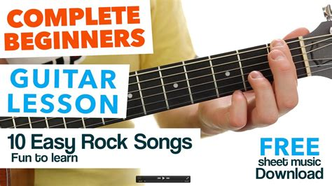 These easy chord based songs are a great way to practice your strumming and rhythm skills. Guitar for Kids & Beginners ★ 10 Fun Easy ROCK Songs ★ Chords - Chordify