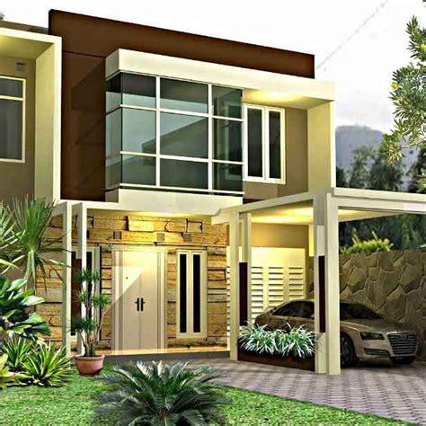 membuat desain rumah minimalis  lantai asri