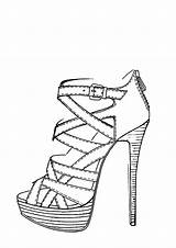 Heel Drawing Shoe Shoes Drawings Sketch Sketches Coloring Pages Tattoos Stiletto Heels Google Simple Template Anime Line Draw Easy Nike sketch template