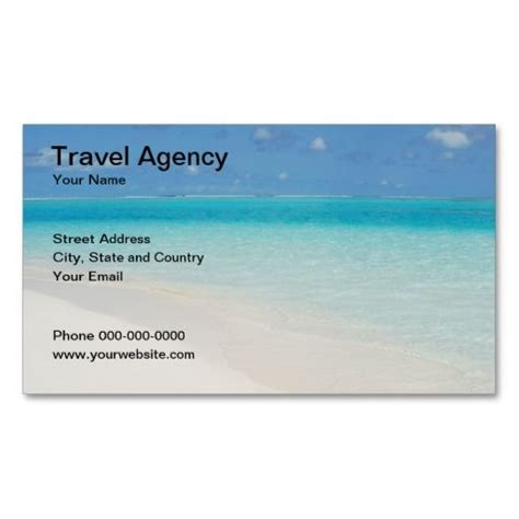 travel contact card template travel agency business card travel business card