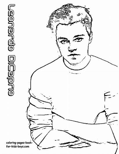 Coloring Hollywood Dicaprio Leonardo Star Pages Celebrity