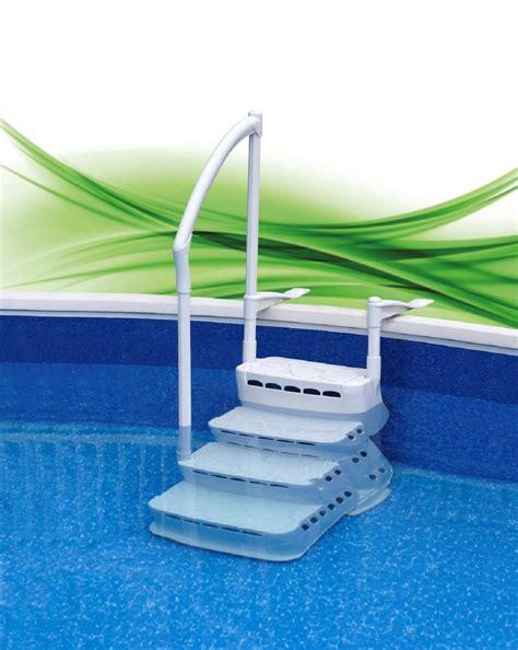 pool treppe nachrüsten pool pooltreppe einbautreppe mit handlauf pvc komfort treppe leiter ebay