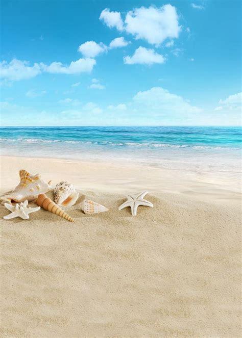 ft vinyl cloth sea beach blue sky starfish holiday