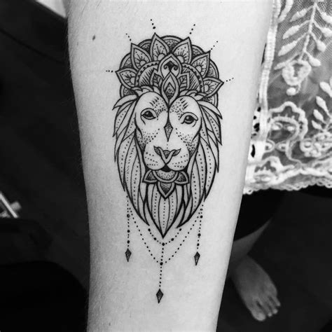 mandala lion tattoo ideas  pinterest