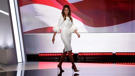 Melania Trump Delivers Her Convention Speech In A Dress By London Based Designer Roksanda