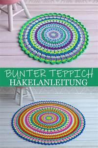 Teppich Selber Häkeln : h kelanleitung teppich kunterbunt in 2 gr en teppich h keln teppich bunt und mandala teppich ~ A.2002-acura-tl-radio.info Haus und Dekorationen