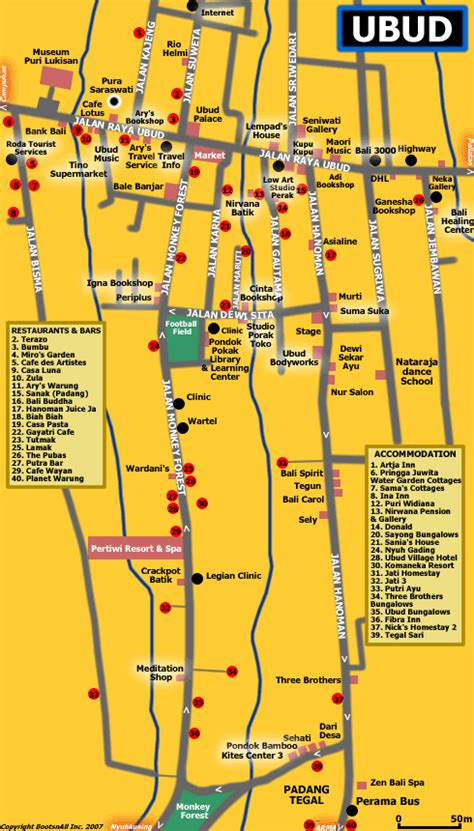 map  ubud tours  bali