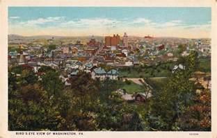 birds eye view washington pa postcard roundup
