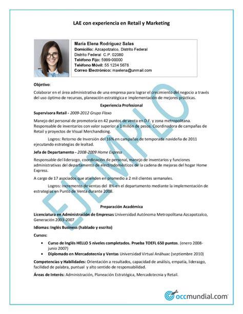 Un Cv by Como Hacer Un Curriculum Vitae Modelo De Curriculum Vitae