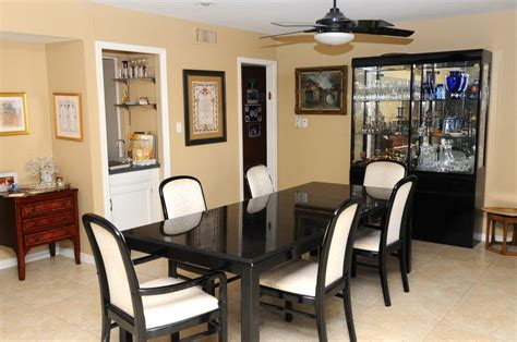 China Cabinet And Dining Room Set by Black Lacquer Dining Room Set 4 Chairs 2 Arm Chairs