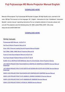 Fuji Fujicascope M3 Movie Projector Manual En By