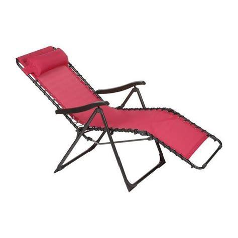 chaise en acier chaise longue framboise en acier et texaline dim 93 x