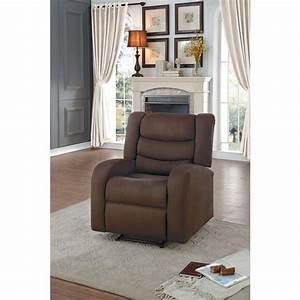 Transitional Style Fabric Recliner Chair With Manual